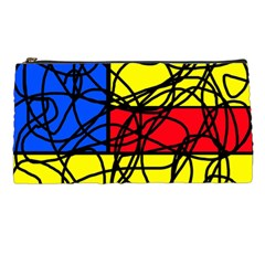 Yellow abstract pattern Pencil Cases
