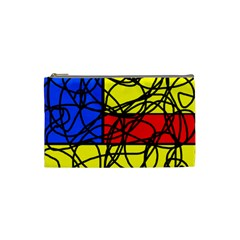 Yellow abstract pattern Cosmetic Bag (Small)
