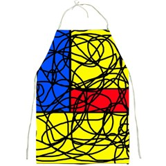 Yellow abstract pattern Full Print Aprons