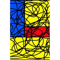 Yellow abstract pattern 5.5  x 8.5  Notebooks