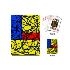 Yellow abstract pattern Playing Cards (Mini)