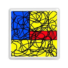 Yellow abstract pattern Memory Card Reader (Square)