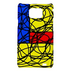 Yellow abstract pattern Samsung Galaxy S2 i9100 Hardshell Case