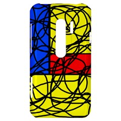 Yellow abstract pattern HTC Evo 3D Hardshell Case