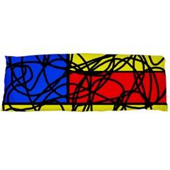 Yellow abstract pattern Body Pillow Case (Dakimakura)