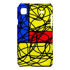 Yellow abstract pattern Samsung Galaxy S i9008 Hardshell Case