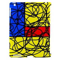Yellow abstract pattern Apple iPad 3/4 Hardshell Case (Compatible with Smart Cover)
