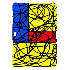 Yellow abstract pattern Samsung Galaxy Tab 10.1  P7500 Hardshell Case