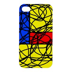 Yellow abstract pattern Apple iPhone 4/4S Premium Hardshell Case