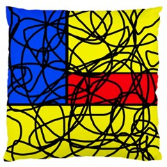 Yellow abstract pattern Large Cushion Case (Two Sides)