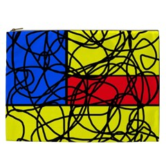 Yellow abstract pattern Cosmetic Bag (XXL)
