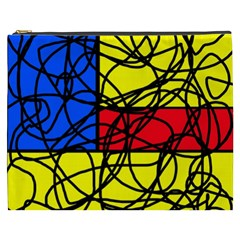 Yellow abstract pattern Cosmetic Bag (XXXL)