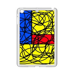 Yellow abstract pattern iPad Mini 2 Enamel Coated Cases