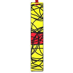 Yellow abstract pattern Large Book Marks