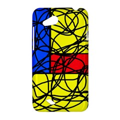 Yellow abstract pattern HTC Desire VC (T328D) Hardshell Case
