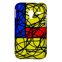 Yellow abstract pattern Samsung Galaxy Ace Plus S7500 Hardshell Case