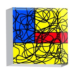 Yellow abstract pattern 5  x 5  Acrylic Photo Blocks