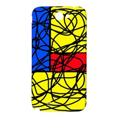 Yellow abstract pattern Samsung Note 2 N7100 Hardshell Back Case