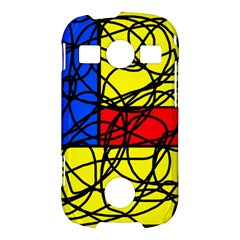 Yellow abstract pattern Samsung Galaxy S7710 Xcover 2 Hardshell Case