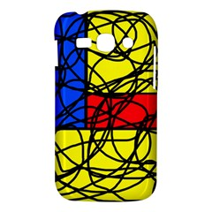 Yellow abstract pattern Samsung Galaxy Ace 3 S7272 Hardshell Case