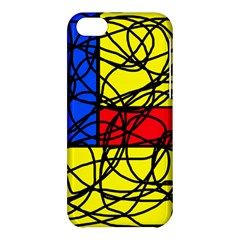 Yellow abstract pattern Apple iPhone 5C Hardshell Case