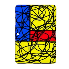 Yellow abstract pattern Samsung Galaxy Tab 2 (10.1 ) P5100 Hardshell Case