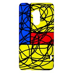 Yellow abstract pattern HTC One Max (T6) Hardshell Case