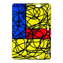 Yellow abstract pattern Kindle Fire HDX 8.9  Hardshell Case