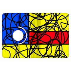 Yellow abstract pattern Kindle Fire HDX Flip 360 Case