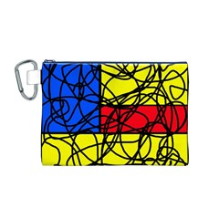 Yellow abstract pattern Canvas Cosmetic Bag (M)