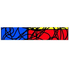 Yellow abstract pattern Flano Scarf (Large)
