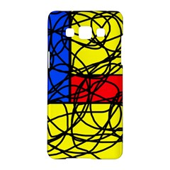 Yellow abstract pattern Samsung Galaxy A5 Hardshell Case