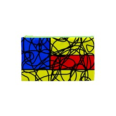 Yellow abstract pattern Cosmetic Bag (XS)