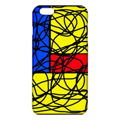 Yellow abstract pattern iPhone 6 Plus/6S Plus TPU Case