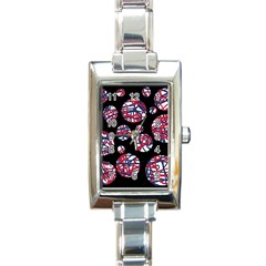 Colorful decorative pattern Rectangle Italian Charm Watch