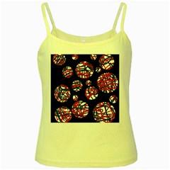 Colorful decorative pattern Yellow Spaghetti Tank