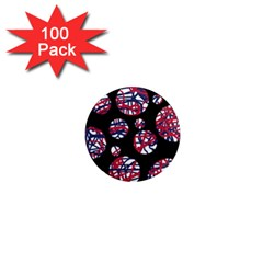 Colorful decorative pattern 1  Mini Magnets (100 pack)