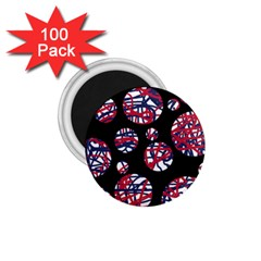 Colorful decorative pattern 1.75  Magnets (100 pack)