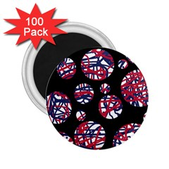 Colorful decorative pattern 2.25  Magnets (100 pack)