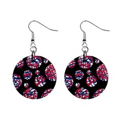 Colorful decorative pattern Mini Button Earrings