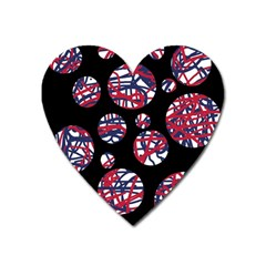 Colorful decorative pattern Heart Magnet