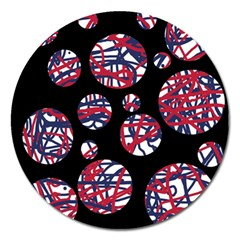 Colorful decorative pattern Magnet 5  (Round)