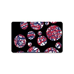 Colorful decorative pattern Magnet (Name Card)
