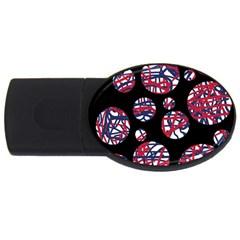 Colorful decorative pattern USB Flash Drive Oval (1 GB)