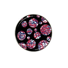 Colorful decorative pattern Hat Clip Ball Marker (4 pack)