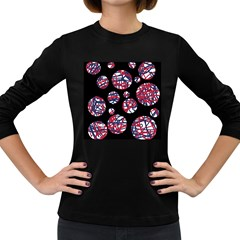Colorful decorative pattern Women s Long Sleeve Dark T-Shirts