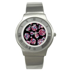 Colorful decorative pattern Stainless Steel Watch
