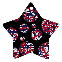Colorful decorative pattern Star Ornament (Two Sides)