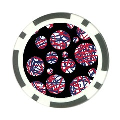 Colorful decorative pattern Poker Chip Card Guards (10 pack)