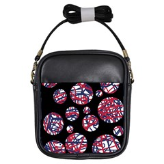 Colorful decorative pattern Girls Sling Bags